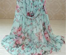 Voile Floral Scarves for Women