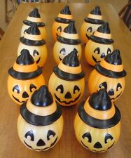 Vintage 1995 Empire Halloween Blow Mold Pumpkin Lantern Light Topper Lot of 11