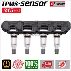 SET OF 4 TPMS TIRE PRESSURE SENSOR 315MHz for 2014-15 Chevy Corvette 13581559