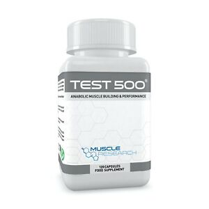 TEST 500 - LEGAL MUSCLE BUILDER SUPPLEMENT - MUSCLE GROWTH - NO STEROIDS & TESTO