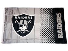 Oakland Raiders Fahne grau NFL Fade Flag American Football Flagge ca.155x90 cm