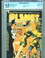 Planet Comics 35 CBCS 5.5 Classic Lily Renee Cover CGC 1st app Mysta of the Moon