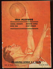 1964 Philadelphia Catholic High School Playoff Program VGEX