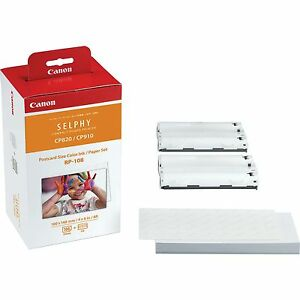 """CANON SELPHY RP-108IP ORIGINAL INK AND 108 SHEETS OF 6"""" x 4"""" PAPER  - 8568B001AA"""