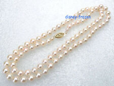 """20"""" Charming AAA grade perfect round 8mm white AKOYA pearl necklace 14K clasp"""