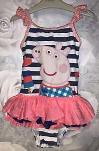 Girls Age 4-5 Years - Swimming Costume From Next - Peppa Pig
