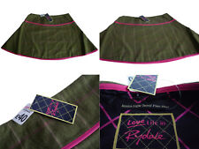 Rydale Jessica Tweed Flair Skirt Green Pink Check Lined Equestrian Country - New