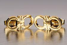 Double gancini cufflinks by Salvatore Ferragamo Men's gold jewelry Made in Italy