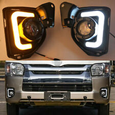 LED Front bumper fog lights DRL Turn Signal Light For 2014-2018 Toyota Hiace
