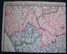 GERMAN - Weekly War Situation Map. Nr. 184, (16/1918). D.R.G.M. War Help Charity