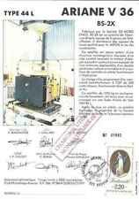 Timbre souvenir philatélique Cosmos Ariane V36 BS-2X lot 14942