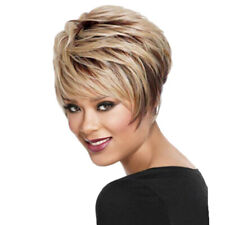 Women Short Straight Hair Wigs Cosplay Party Bob Hair Wig Heat Resistant Fashion