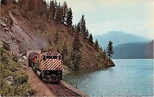 CP Rail Freight with M636 # 4510 Moyie Lake BC June 1974 Train Postcard