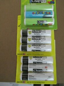 CHAP ICE LIP BALM SET OF 3 PACKS FACTORY SEALED NEW