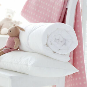 CLASSIC COT DUVET QUILT BEDDING BABY TODDLER JUNIOR BED ANTI-ALLERGY OR PILLOW