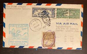 1930 FAM FFC AAMC F5-53A F5-61 Miami -Puerto Cabello. Round Trip 112-55
