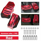 Red Non-slip Automatic Gas Brake Foot Pedal Pad Cover Car Accessory Parts Exc