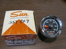 NOS Sun SST-807 Blue Line Tachometer Tach 6000 RPM SST807 6 cyl 12V