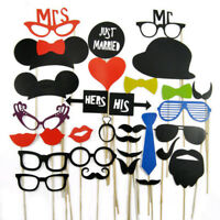 Funny Party Props Photo Booth On Sticks for Reception Wedding Birthday 31pcs