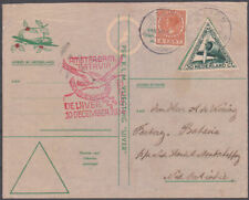 1934 COVER CHRISTMAS FLIGHT OF KLM 'UIVER' TO DUTCH EAST INDIES & CRASH PHOTO
