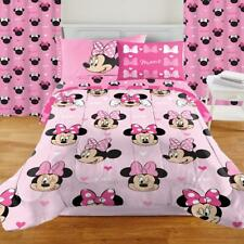 Minnie Mouse Design Room in a Box Set 7-pcs Includes Bedding Set And Drapes Twin