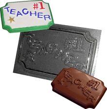 Profesor De Chocolate Molde de hacer #1 abandono escolar regalos para los profesores nuevos moldes