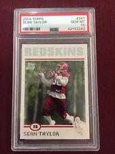 Sean Taylor 2004 Topps Rookie Card PSA 10 Gem Mt Hurricanes Washington Redskins