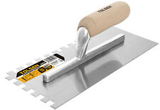 10mm Professional Square Notched Tiling / Plastering Trowel Tool 280 x 120mm