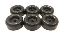 "(6) 2.5"" BLACK RUBBER BUMPERS with 7/16"" Hole for Car Trailer Door Ramp Guard"