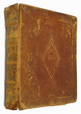 1859 Antique Leather Bible Slewder Campbell Family La Salle County Illinois IL
