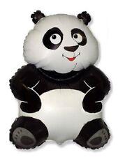 "Panda Black White Pandamonium Jungle Zoo Safari 33"" Party Mylar Balloon"