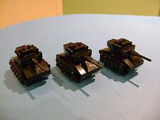LEGO LOT #01 CUSTOM WW2 WORLD WAR 2 ARMY OF 3 BLACK MINI TANKS 275 PARTS TOTAL