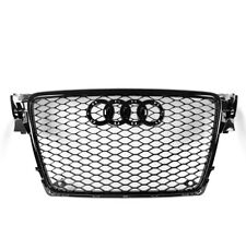 BLACK FRONT MESH RS4 STYLE BUMPER HOOD HEX GRILLE FOR 2009-2012 AUDI A4/S4 B8 8T