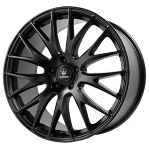 "Verde V27 Saga 20x8.5 5x120 +38mm Satin Black Wheel Rim 20"" Inch"