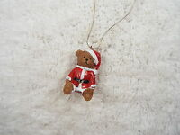 Christmas Santa Teddy Bear Pendant Necklace  (A57)