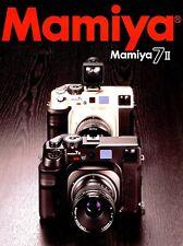 MAMIYA 7 II RANGEFINDER 6x7cm CAMERA SYSTEM BROCHURE -MAMIYA 7II