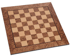 "Manopoulos Walnut Burl Chess Board 2"" Squares- HandMade in Greece- Without Pawns"