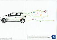 PUBLICITE ADVERTISING 016  2004  Peugeot  la  206 hdi Fap 110 cv  (2p)