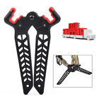 Long Compound Bow Stand Holder Kick Legs Archery Target Shooting Bow Support HG