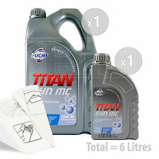 Car Engine Oil Service Kit / Pack 6 LITRES Fuchs TITAN SYN MC 10w-40 6L