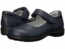 School Shoes Navy Blue/ Leather by  Jumping Jacks Girls Size 1 1/2 M