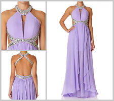 FOREVER UNIQUE SHAYLA LILAC MAXI EMBELLISHED COCKTAIL PARTY DRESS UK16 BNWT