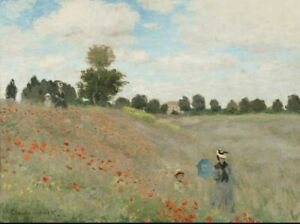 Monet Poppy Field at Argenteuil 20 pack cards  notelets  &  envs folded gift