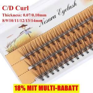 neu-60 Cluster Falsche Wimpern Individuelle Wimpernverlängerung C Curl Knot