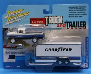 JOHNNY LIGHTNING 1:64 Truck and Trailer 59 F-250 GOODYEAR AIRSHIP OPERATIONS