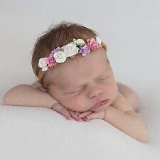 Newborn Baby Girl Kids Cute Flower Garland Princess Headband Hairband Photo Prop