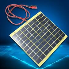12V 5W Solar Panel Fit Car Battery Irrigation Trickle Charger Backpack Power TS