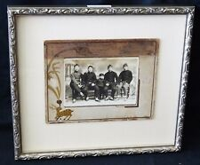 """1900 Chinese Framed B&W Photo """"Five Young Man"""" by unknown maker (Mil)"""