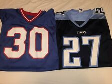 2 Rare Vintage 90s New York Giants And Tennessee Titans Champion Jerseys