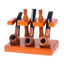 Solid Wooden Smoking Pipe Stand Rack Holder for 3 Smoking Pipes